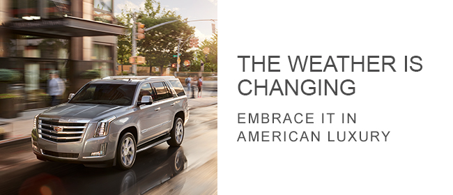 The Weather Is Changing, embrace it in American Luxury