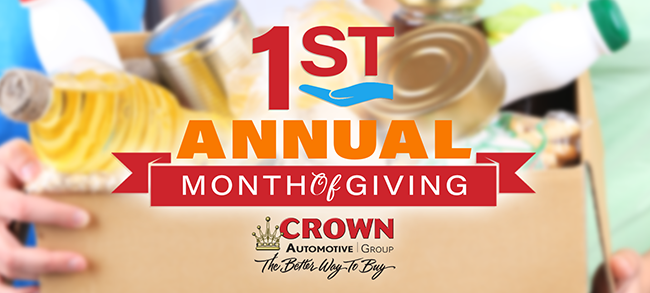 1st Annual Month of Giving at Crown Automotive Group