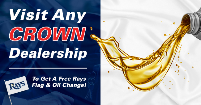 Visit Any Crown Dealership To Get A Free Rays Flag & Oil Change