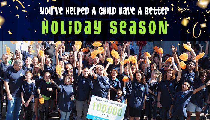 You've Helped A Child Have A Better Holiday Season
