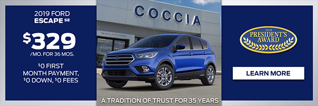 Sign and Drive 2019 Ford Escape SE