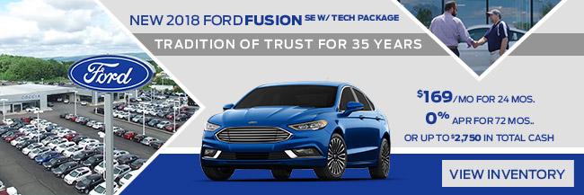 2018 FORD FUSION SE W/ TECH PACKAGE