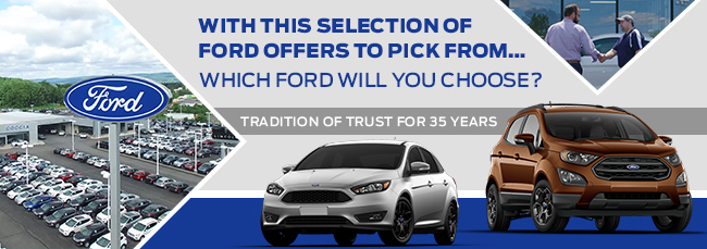 With This Selection Of Ford Offers To Pick From…Which Ford Will You Choose?