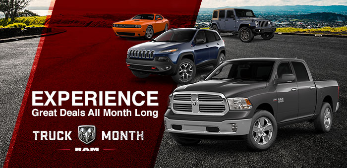 Experience Great Deals All Month Long For A Limited-Time At Crown Chrysler Dodge Jeep RAM Chattanooga