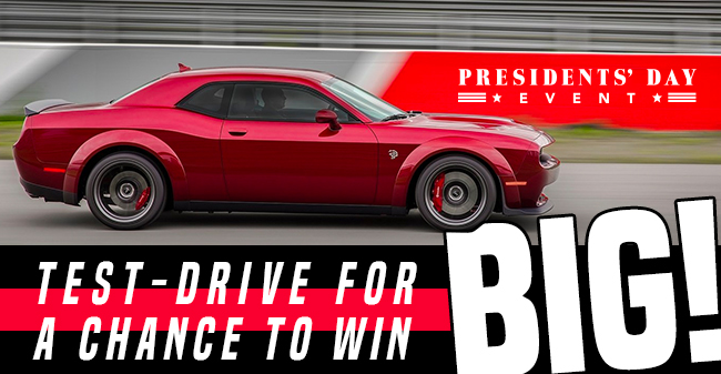test drive for a chance to win big