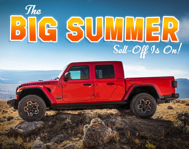 The Big Summer Sell Off Is On!