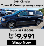 2014 Chrysler town and country touring-l wagon
