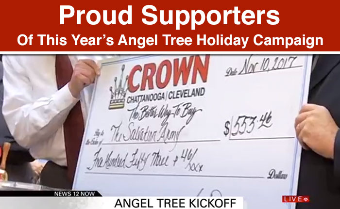 Proud Supporters Of This Year's Angel Tree Holiday Campaign