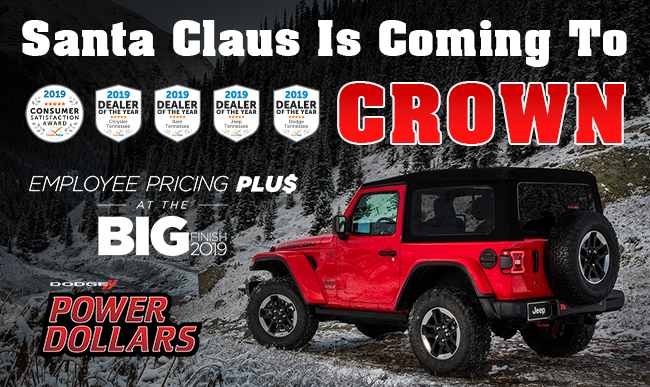 Santa claus is coming to crown