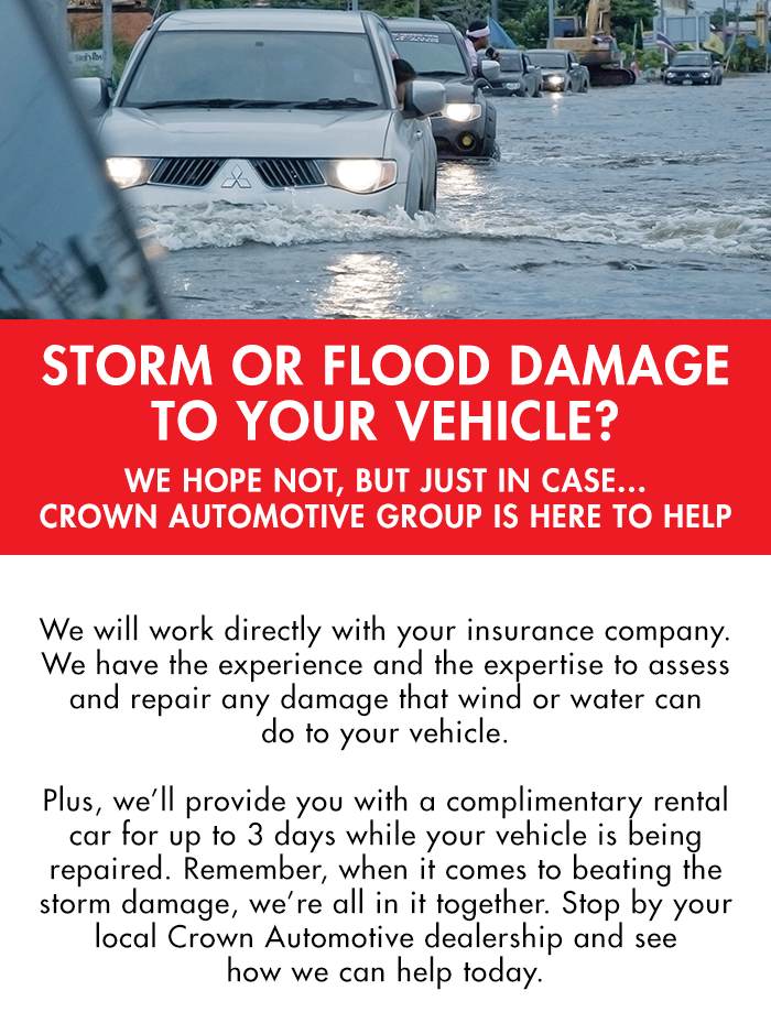Storm Or Flood Damage To Your Vehicle?