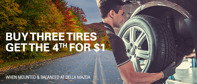 Buy 3 Tires & Get The 4th Tire For $1