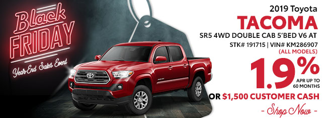 2019 Toyota Tacoma SR5 4WD Double Cab 5'Bed V6 AT