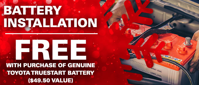 Free Battery Replacement With Purchase Of Genuine Toyota TrueStart Battery