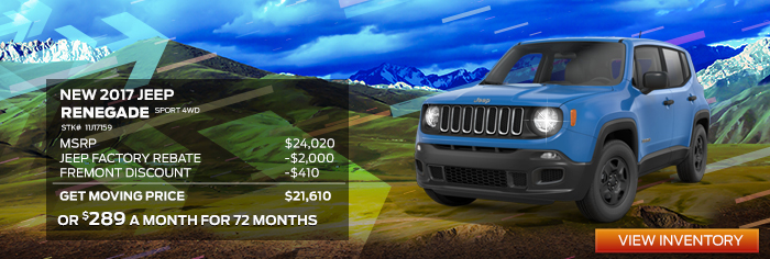 New 2017 JEEP RENEGADE SPORT 4WD