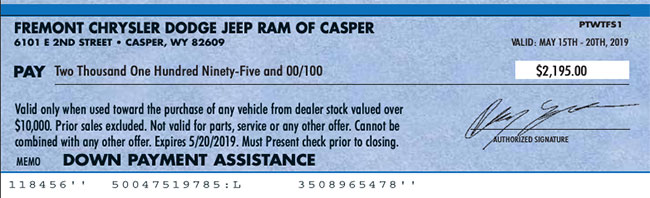 Fremont Chrysler Dodge Jeep RAM Of Casper