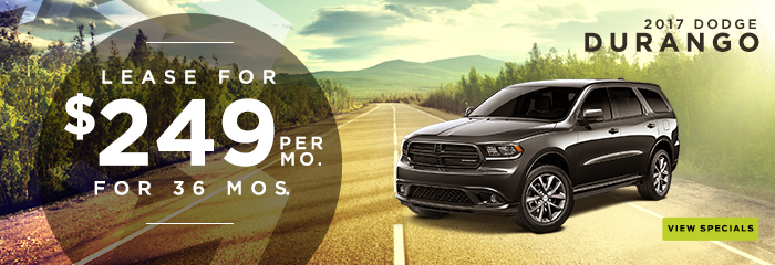 2017 Dodge Durango Lease For $249 Per Month For 36 Months