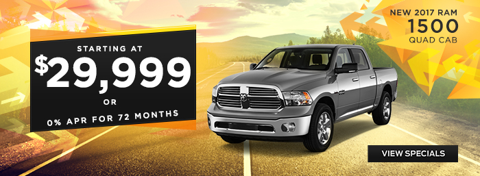 New 2017 Ram 1500 - Starting at $29,999 or 0% APR for 72 Months