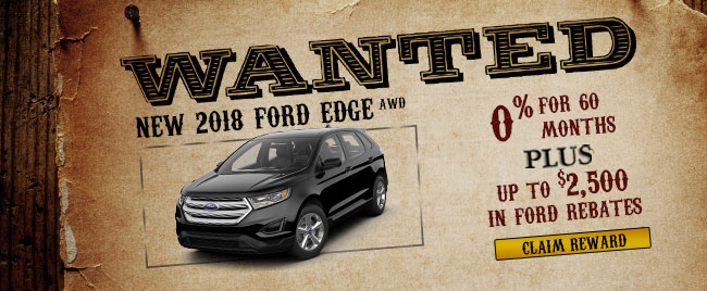 New 2018 Ford Edge AWD