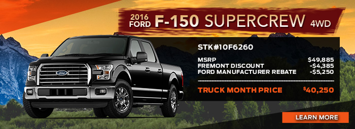 New 2016 Ford F-150 Supercrew 4wd