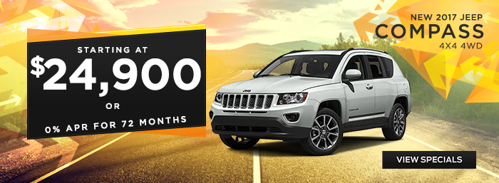 New 2017 Jeep Compass - Starting at $24,900 or 0% APR for 72 Months