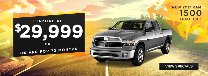 2017 Ram 1500 - Starting at $29,999  Or 0% APR for 72 months