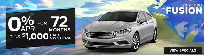 2017 Ford Fusion - 0% APR for 72 Months Plus $1,000 Trade Assist Cash