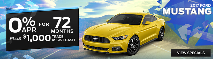 2017 Ford Mustang - 0% APR for 72 Months Plus $1,000 Trade Assist Cash