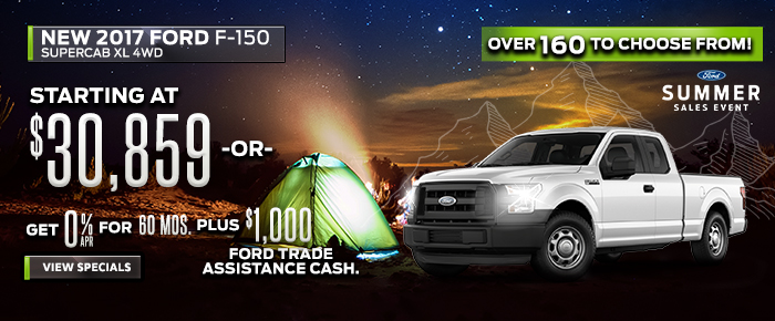 New 2017 F150 - Starting At $30,859 or Get 0% APR For 60 Months Plus $1,000 Ford Trade Assistance Cash