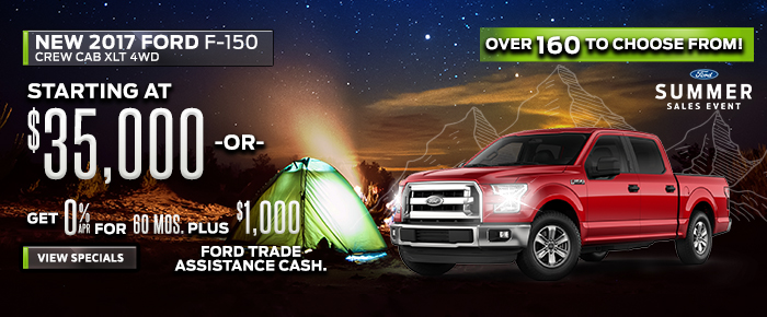 New 2017 Ford F150 - Starting at $35,000 or 0% APR for 60 Months pLUS $1,000 Ford Trade Assistance Cash