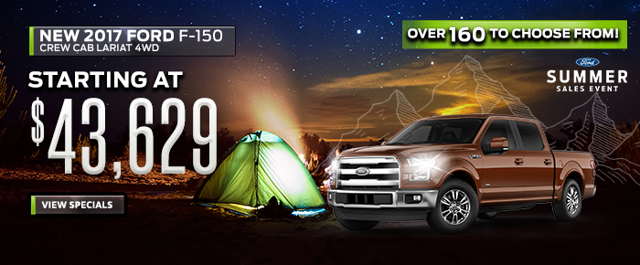 New 2017 Ford F150 - Starting at $43,629