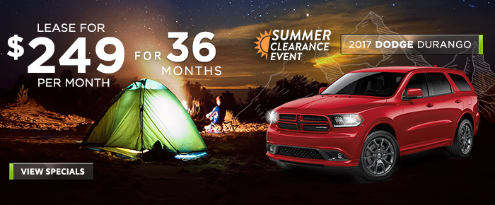 New 2017 Dodge Durango - Lease For $249 Per Month For 36 Months