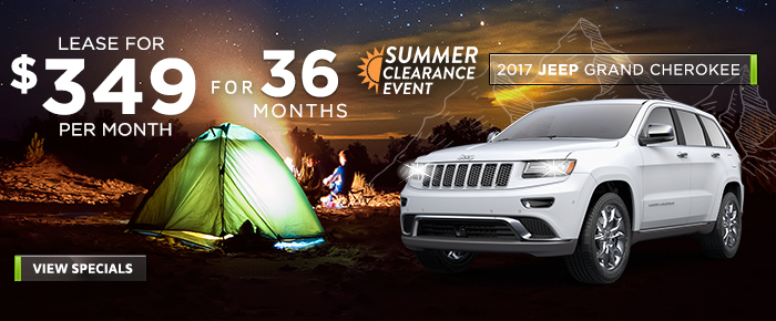 New 2017 JEEP Grand Cherokee - Lease For $349 Per Month For 36 Months