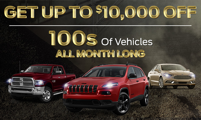 Get Up To $10,000 Off Hundreds of Vehicles All Month Long