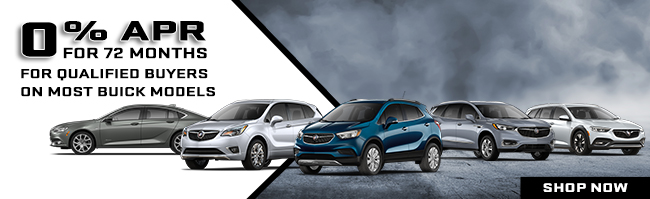 0% APR For 72 Months On Most Buick Models