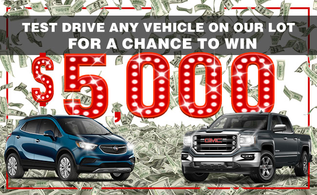 Test Drive For a Chance To Win $5K