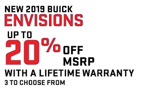 UP TO 20% OFF MSRP WITH A LIFETIME WARRANTY