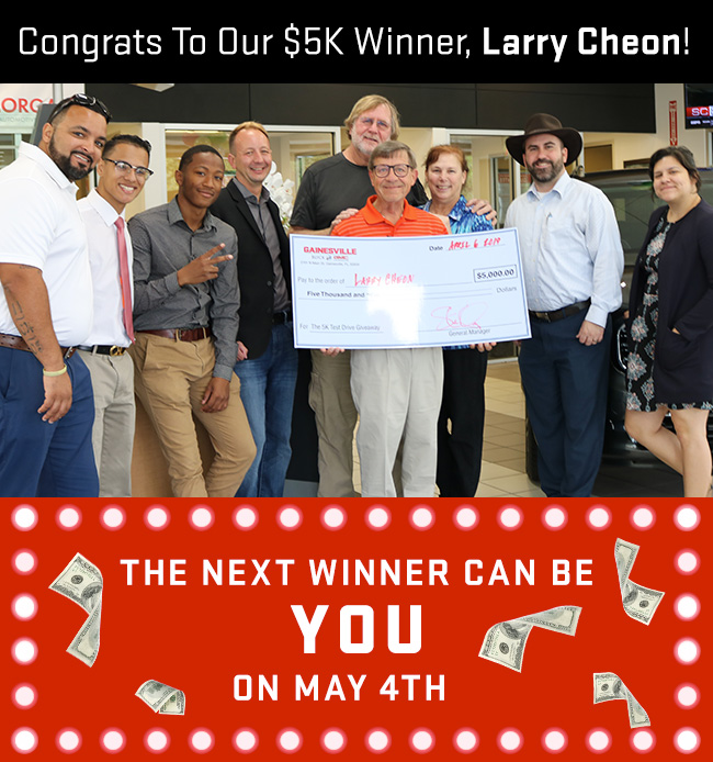 Congrats To Our $5K Winner, Larry Cheon!