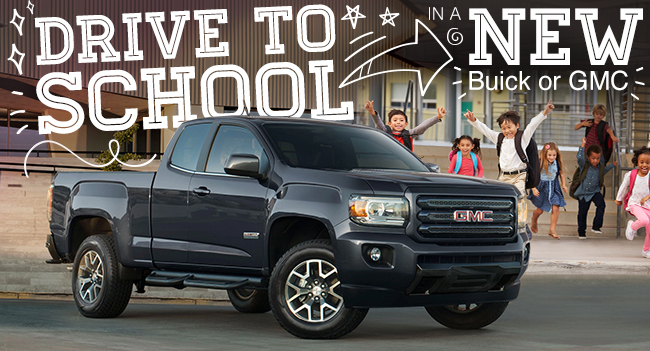 Drive To School In A New Buick or GMC
