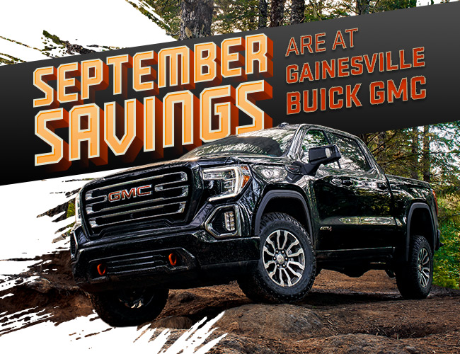 September Savings Are At Gainesville Buick GMC