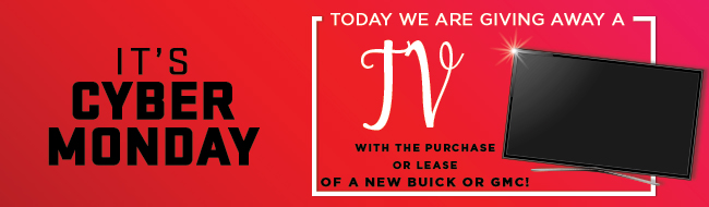 Today We are giving away an apple watch with the purchase or lease of a new buick or gmc