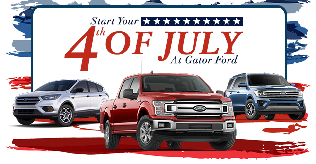 Start Your 4 th Of July At Gator Ford