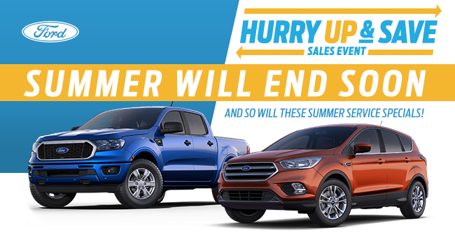 Summer Will End Soon And So Will These Summer Service Specials!