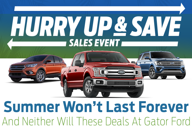 Summer Won't Last Forever And Neither Will These Deals At Gator Ford