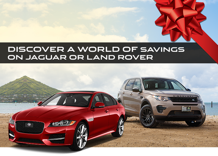Discover A Holiday World of Savings on Jaguar or Land Rover