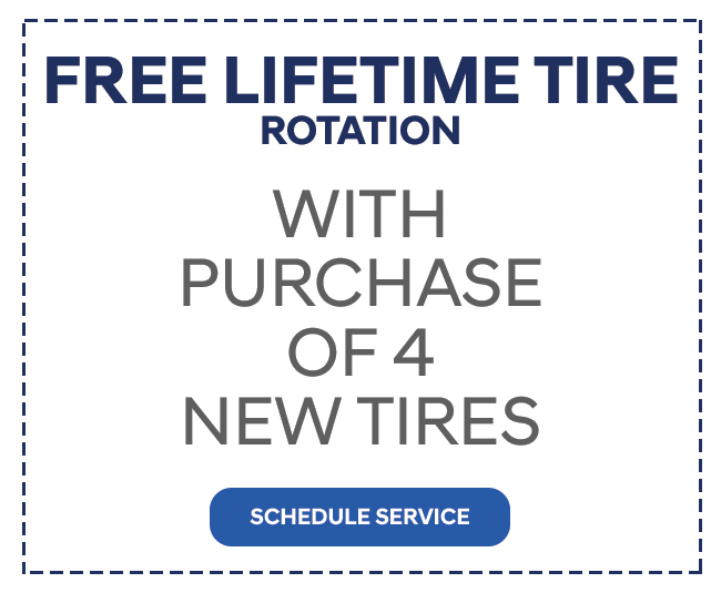 Free Lifetime Tire Rotation With Purchase Of 4 New Tires