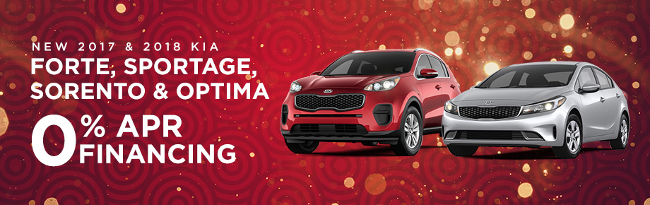 2017 and 2018 Forte, Sportage, Sorento & Optima 0% APR Financing for 75 months