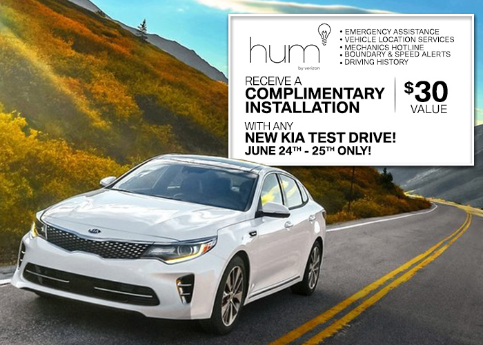 Receive A Complimentary Installation With Any New Kia Test Drive!