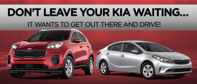 Don't Leave Your Kia Waiting… It Wants To Get Out There And Drive!