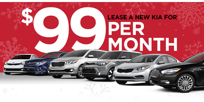 Lease a new Kia for $99 per month!