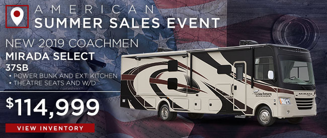New 2019 Coachmen Mirada Select